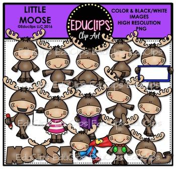 Little Moose Clip Art Bundle {Educlips Clipart}