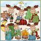 Little Moose Clip Art Bundle - 4 Colored Clip Art Sets