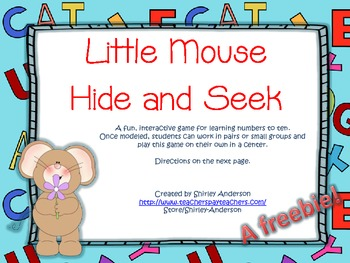 Little Mouse Hide and Seek- Numbers (Freebie)