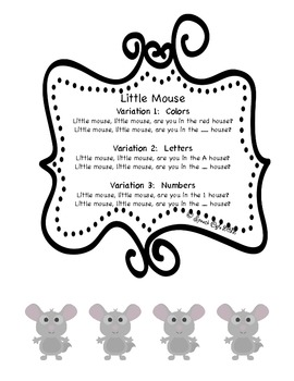 Little Mouse Rhyming Game:  Colors, Letters, Numbers, Memory, Speech Therapy