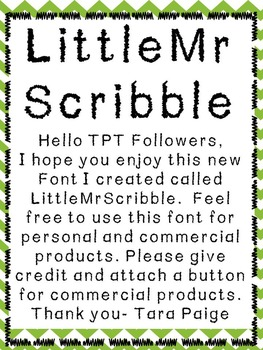 Little Mr Scribble Font