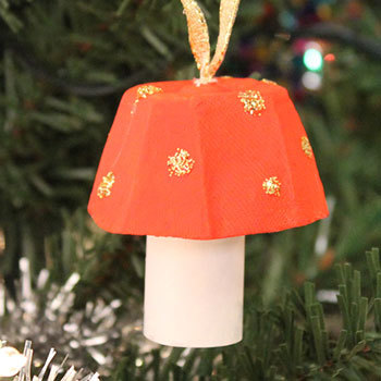 Little Mushroom: Fall craft or easy Christmas craft