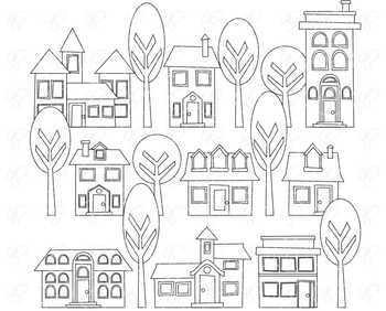 Little Neighborhood Clipart Set by Poppydreamz