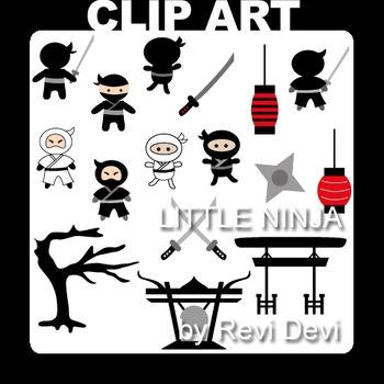 Little Ninja clip art (teacher resource)