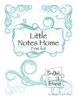 Little Notes Home: First Aid ~ Aqua Sparkle