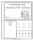 Back to School Little Number Book Counting, Tracing and Number Recognition