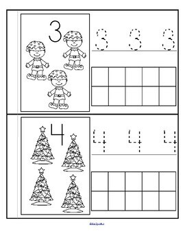 Christmas Number Book Counting Tracing and Stamping 0-10