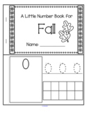 Little Number Book for Fall  0-10 - Counting, Tracing, Recognition
