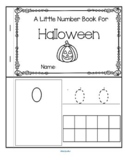 Halloween Little Number Book 0-10 - Counting, Tracing, Recognition