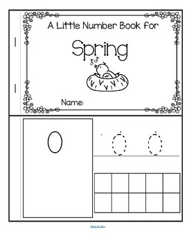 Little Number Book for SPRING 0-10
