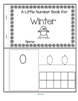 WINTER Little Number Book