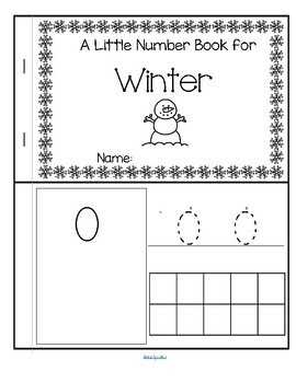 WINTER Little Number Book