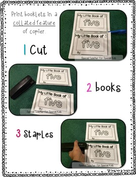 Little Number Books-- Interactive Number Books