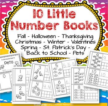 Little Number Books BUNDLE