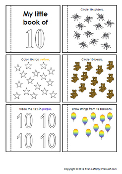 Little Number Books: Make a mini book for each number, 1 to 10!