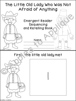 Little Old Lady Who Was Not Afraid of Anything Sequencing and Retelling Book