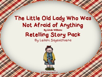 Little Old Lady that wasn't Afraid of Anything Retelling Story Bracelet