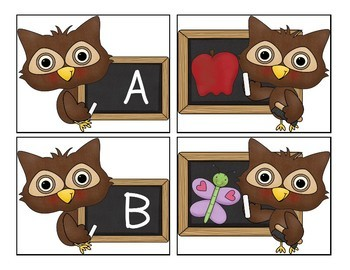 Little Owl Alphabet Match-Up