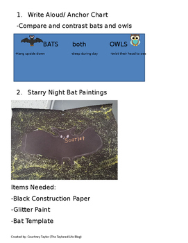 Little Owl's Night Interactive Read Aloud Lesson Plan Packet