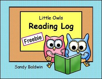 Little Owls Reading Log Freebie