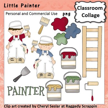 Little Painter clip art - personal & comm use