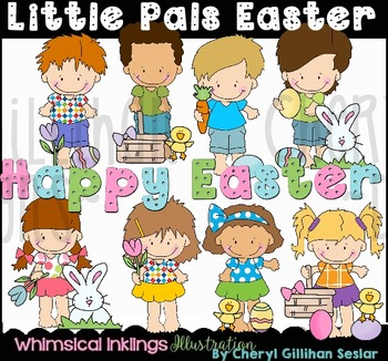 Little Pals Easter Clipart Collection