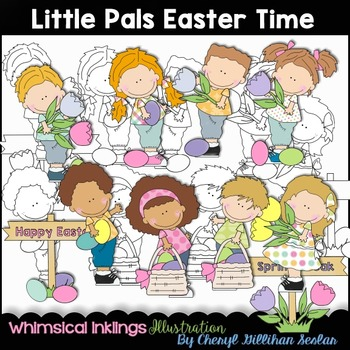 Little Pals Easter Time Clipart Collection