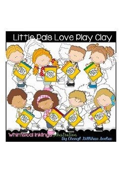 Little Pals Love Play Clay Clipart Collection