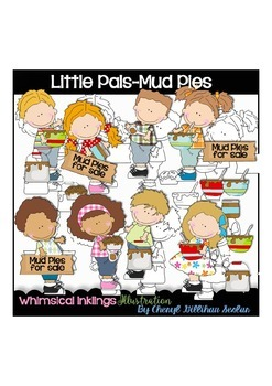 Little Pals Mud Pies Clipart Collection