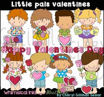 Little Pals Valentines Clipart Collection