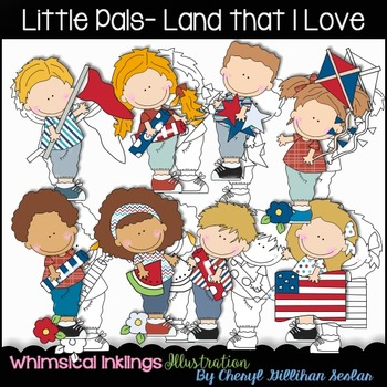 Little Pals land that I Love Clipart Collection