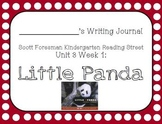 Little Panda Writing Journal (Kindergarten Reading Street Unit 3 Week 1)