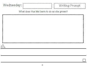 Little Panda Writing Journal (Kindergarten Reading Street Unit 3 Week 1)