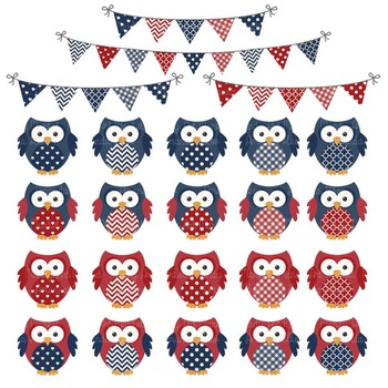 Americana Owl Vectors & Papers - Baby Owl Clipart, Owl Clip Art, Baby Owls