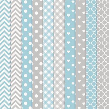 Blue & Grey Owl Vectors & Papers - Baby Owl Clipart, Owl Clip Art, Baby Owls
