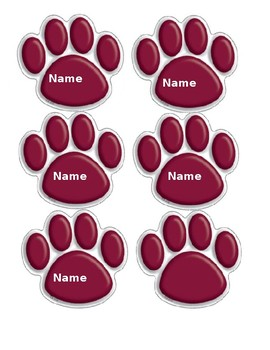 Little Paw Cut-Outs