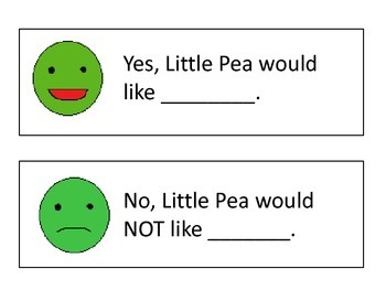 Little Pea Language Unit- Vegetables theme, basic perspective taking
