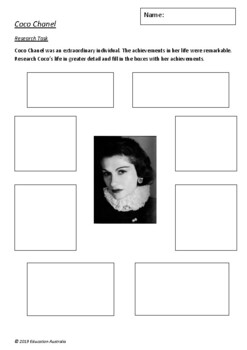 Little People, Big Dreams - Coco Chanel by Isabel Sanchez Vegara 6 Worksheets