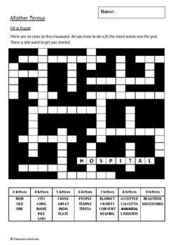 Little People, Big Dreams - Mother Teresa by Isabel Sanchez Vegara 6 Worksheets