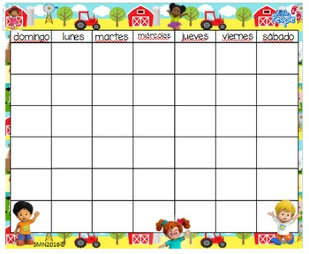 Little People Calendar & numbers 24x20