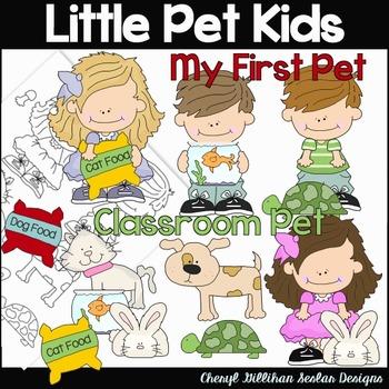 Little Pet Kids Clipart Collection