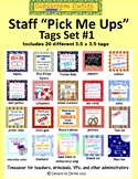 Little Pick Me Ups - Tags for Staff Gifts Set #1 - Distanc