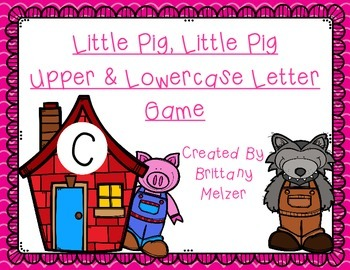 Little Pig, Little Pig Upper & Lowercase Letter Game