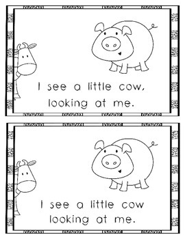 Emergent Reader: Little Pig, Little Pig, What Do You See?