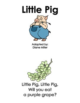 Little Pig Mini Book - Sight Words / Phonics