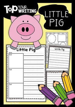 Little Pig Writing with Topper