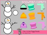Little Piggy's Dress-Up a Snowman Clipart