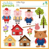 Little Pigs Clipart & Lineart