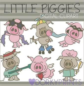 Little Pigs Digital Clip Art