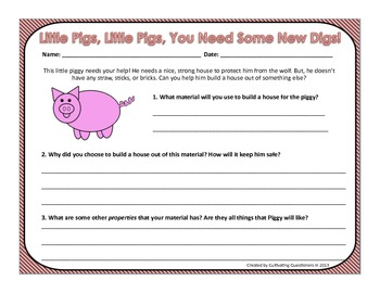 Little Pigs, You Need New Digs: 3 Little Pigs & Properties of Materials (Free!)